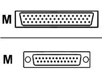 Cisco - Serielles RS-530-Kabel (DTE) - Smart Serial (M) bis DB-25 (M) - 3 m - abgeschirmt - für Cisco 2610, 2611, 2612, 2613, 26