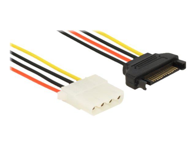 DeLOCK - Netzteil - interne Stromversorgung, 4-polig (W) bis SATA-Stromstecker (M) - 30 cm