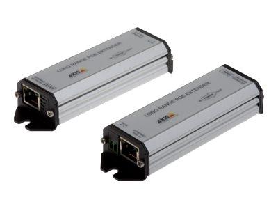 AXIS Long range PoE Extender kit - Repeater - 100Mb LAN - 10Base-T, 100Base-TX - RJ-45 / RJ-45 - bis zu 1 km