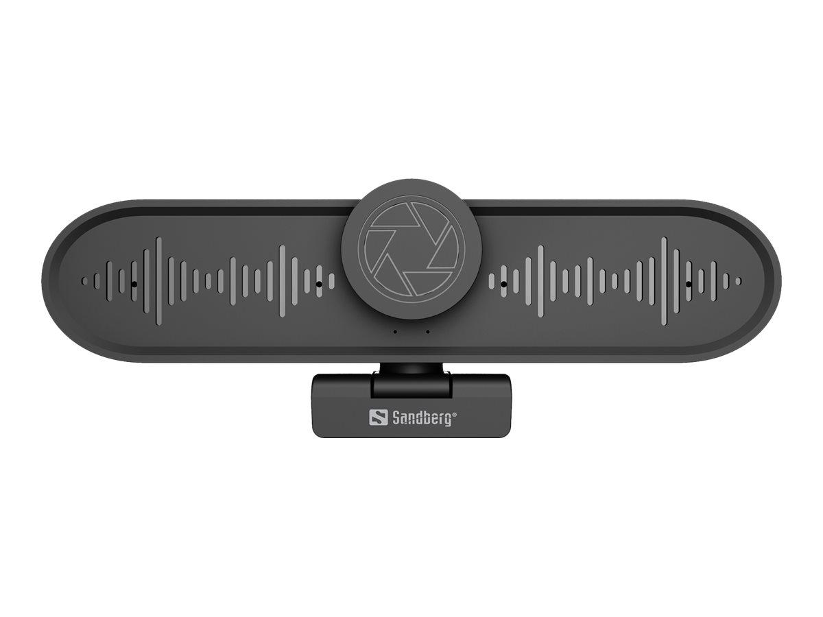 Sandberg ConfCam All-in-1 4K 4Mic - Web-Kamera - Farbe - 3264 x 2448 - Audio - USB 3.0