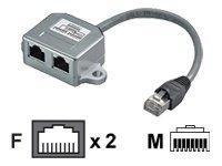 M-CAB - Netzwerk-Splitter - RJ-45 (M) bis RJ-45 (W) - CAT 5
