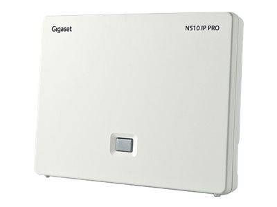 Gigaset N510 IP PRO - Basisstation für schnurloses VoIP-Telefon - DECT\GAP - dreiweg Anruffunktion - SIP - weiss