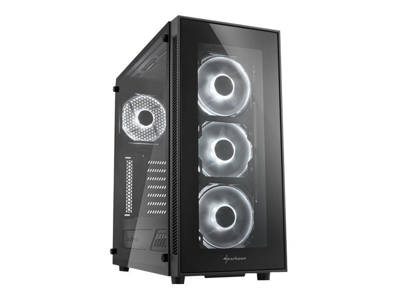 Sharkoon TG5 - Midi Tower - ATX - ohne Netzteil - weiss - USB/Audio