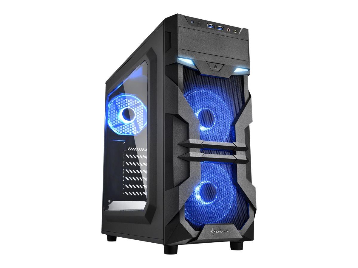 Sharkoon VS7-W - Midi Tower - ATX - ohne Netzteil - Blau - USB/Audio