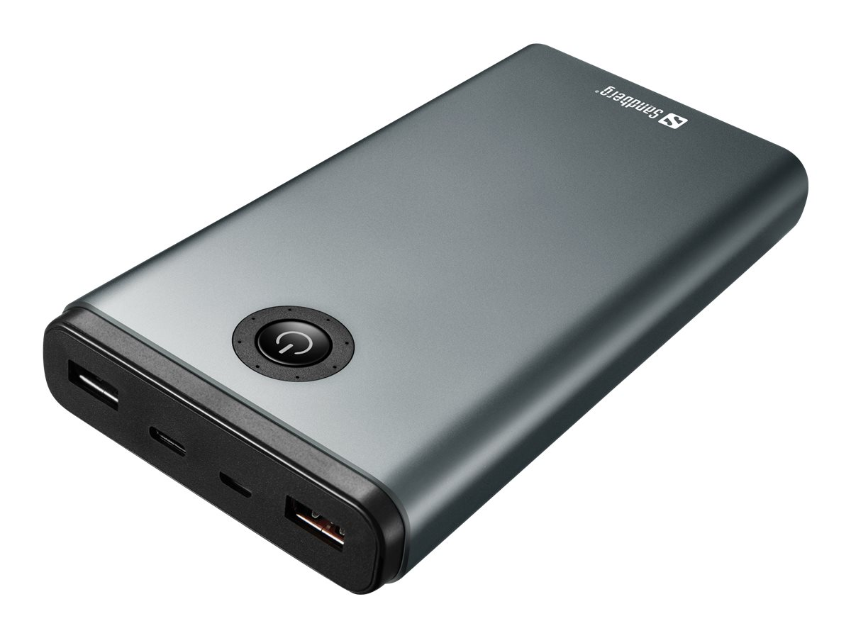 Sandberg - Powerbank - 20800 mAh - 3.25 A - QC 3.0 - 3 Ausgabeanschlussstellen (USB, USB-C)
