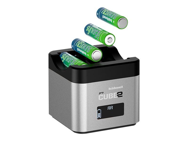 Hähnel PROCUBE2 - Batterieladegerät - (für 4xAA, 4xAAA) + Kfz-Netzteil - 2.4 A