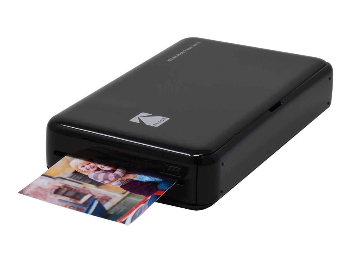 Kodak Photo Printer Mini 2 - Drucker - Farbe - Thermosublimation - 53.3 x 86.4 mm bis zu 0.83 Min./Seite (Farbe) - Bluetooth, NF