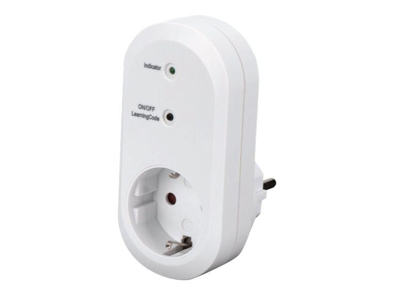 Ednet.living - Smart-Stecker - kabellos - 433 MHz - weiss