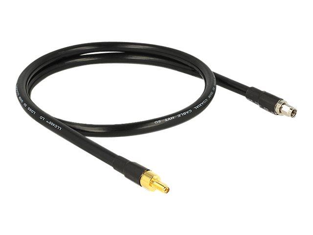 DeLOCK CFD400 LLC400 low loss - Antennenverlängerungskabel - RP-SMA (W) bis RP-SMA (M) - 1 m - CFD-400 - Schwarz