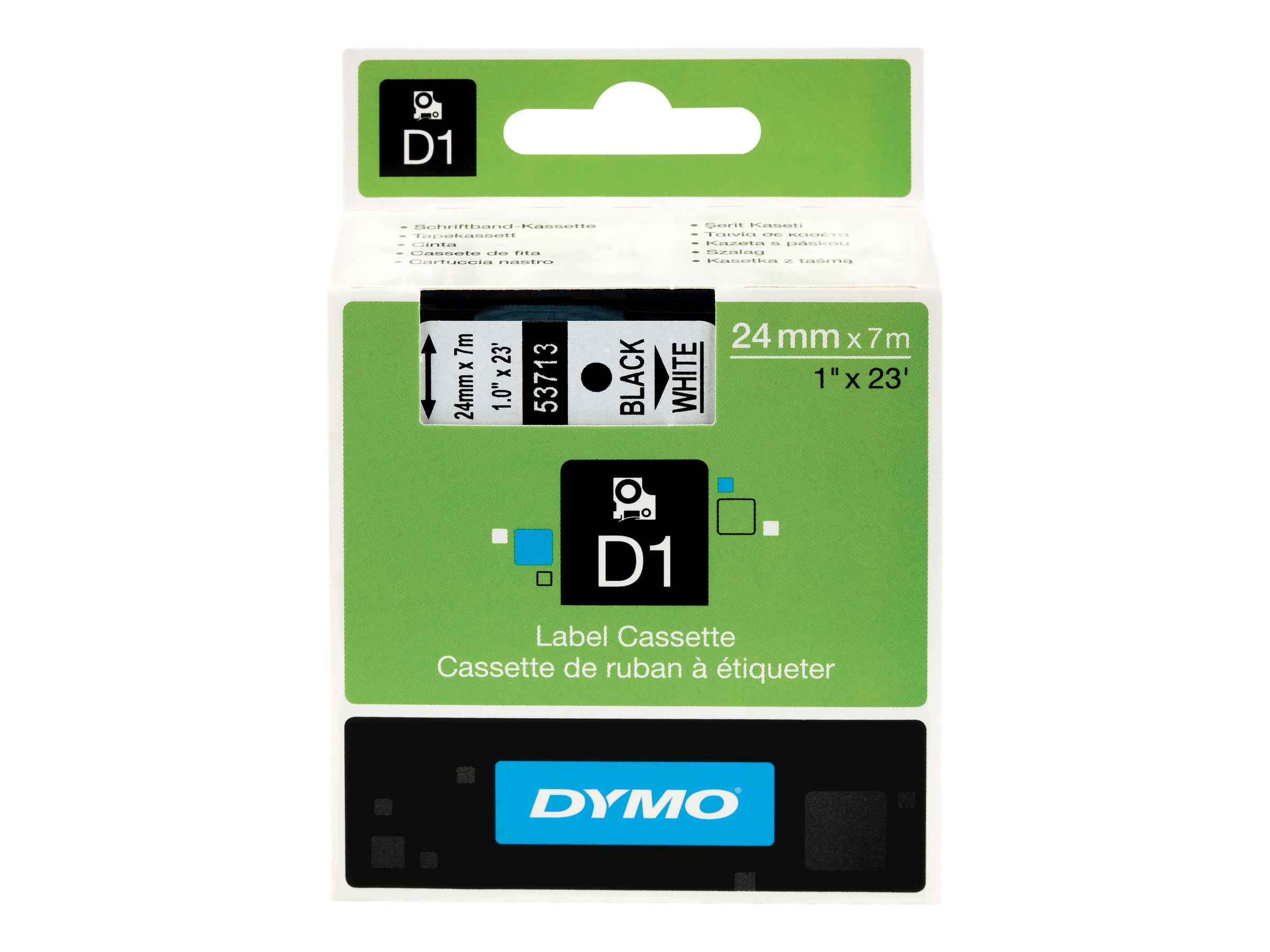 DYMO D1 - Glänzend - Schwarz auf Weiss - Rolle (2,4 cm x 7 m) 1 Rolle(n) Band - für LabelMANAGER 450, 450D, 500TS, PC, PC2, Wire
