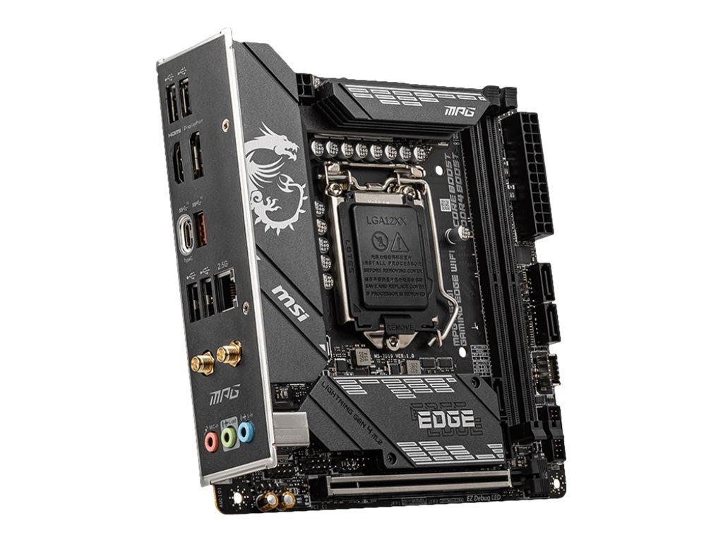 MSI MPG B560I GAMING EDGE WIFI - Motherboard - Mini-ITX - LGA1200-Sockel - B560 Chipsatz - USB-C Gen2, USB-C Gen1, USB 3.2 Gen 1