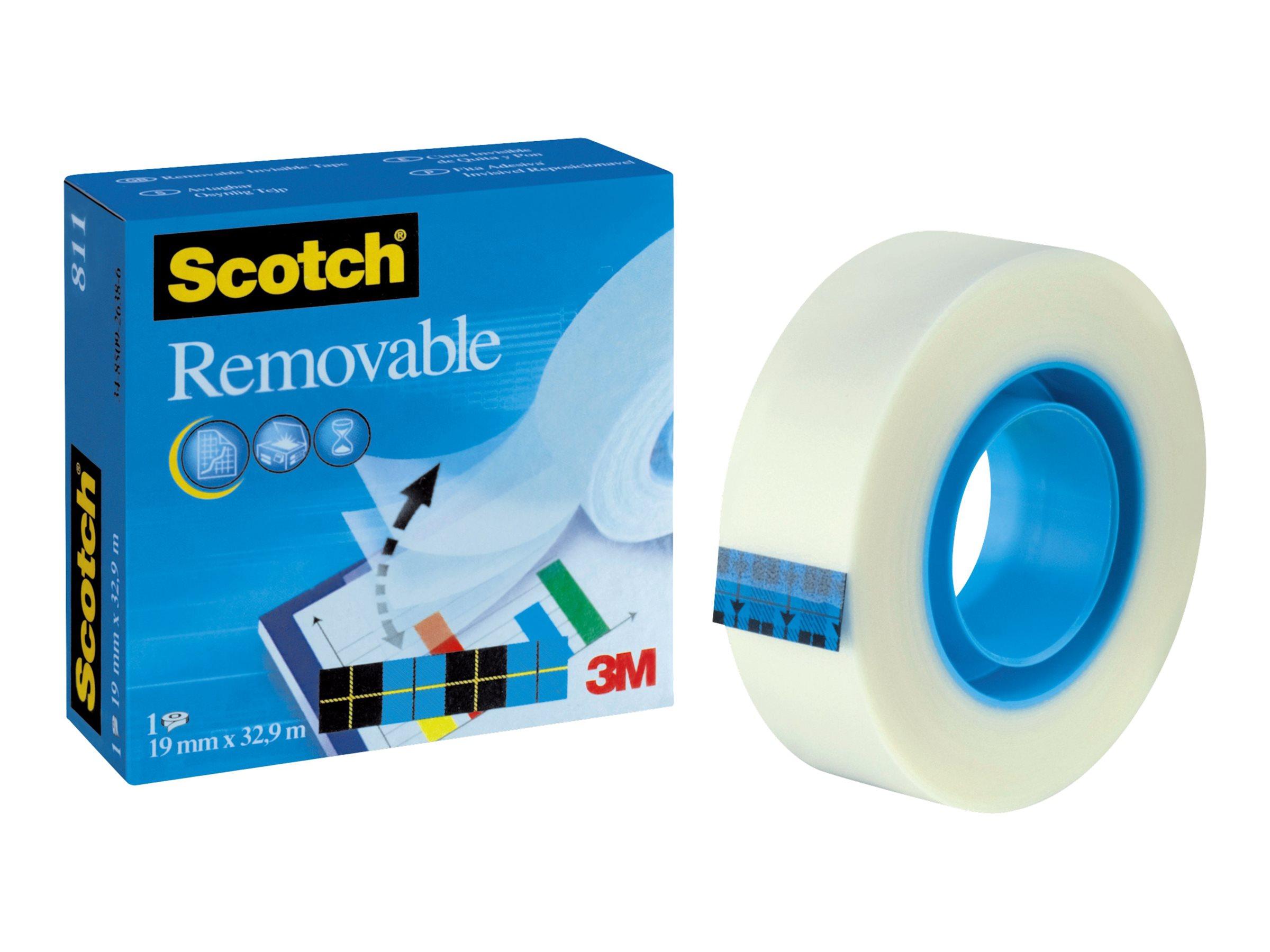 Scotch Magic 811 - Büro-Klebeband - 19 mm x 33 m - Celluloseacetat - matt transparent
