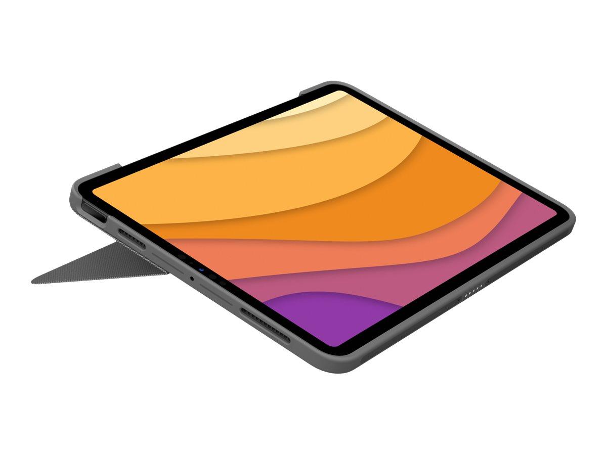 Logitech Combo Touch - Tastatur und Foliohülle - mit Trackpad - hintergrundbeleuchtet - Apple Smart connector - QWERTZ