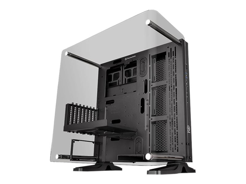 Thermaltake Core P3 - Tempered Glass Curved Edition - Midi Tower - ATX - ohne Netzteil (PS/2) - Schwarz