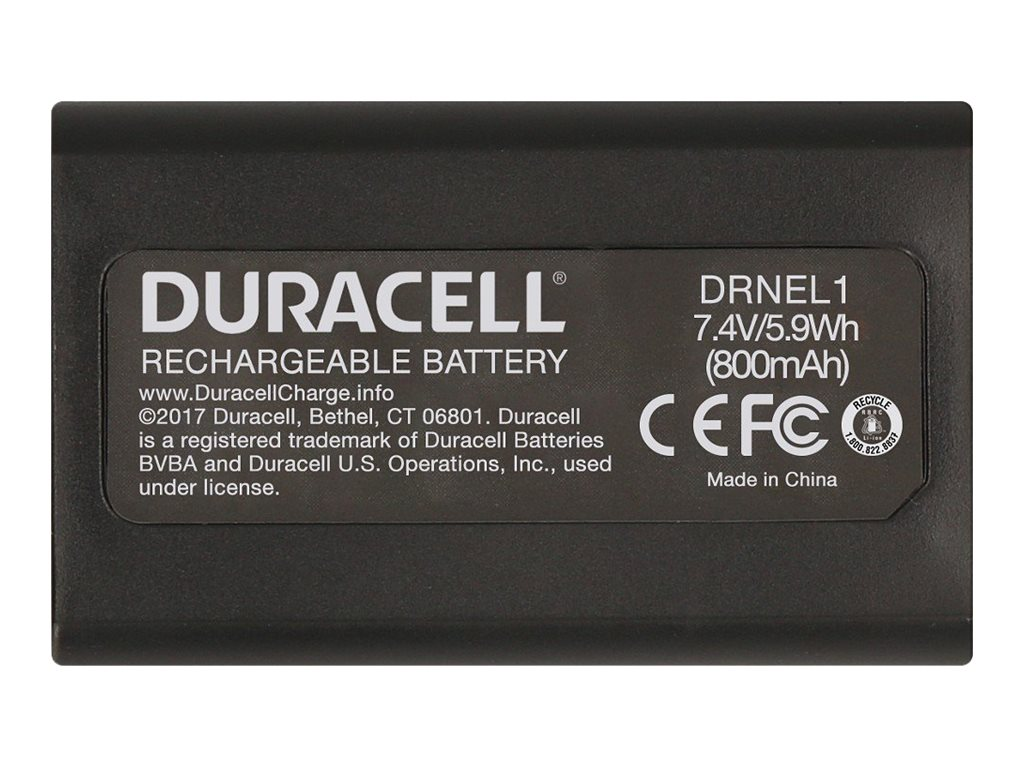 Duracell DRNEL1 - Kamerabatterie - Li-Ion - 750 mAh - für Nikon Coolpix 2200, 3200, 4300, 4500, 4800, 5000, 5400, 5700, 775, 870
