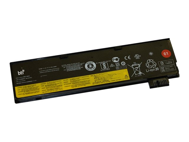 BTI LN-4X50M08810-BTI - Laptop-Batterie (gleichwertig mit: Lenovo 4X50M08810) - 1 x Lithium-Polymer 3 Zellen 2110 mAh - für Leno