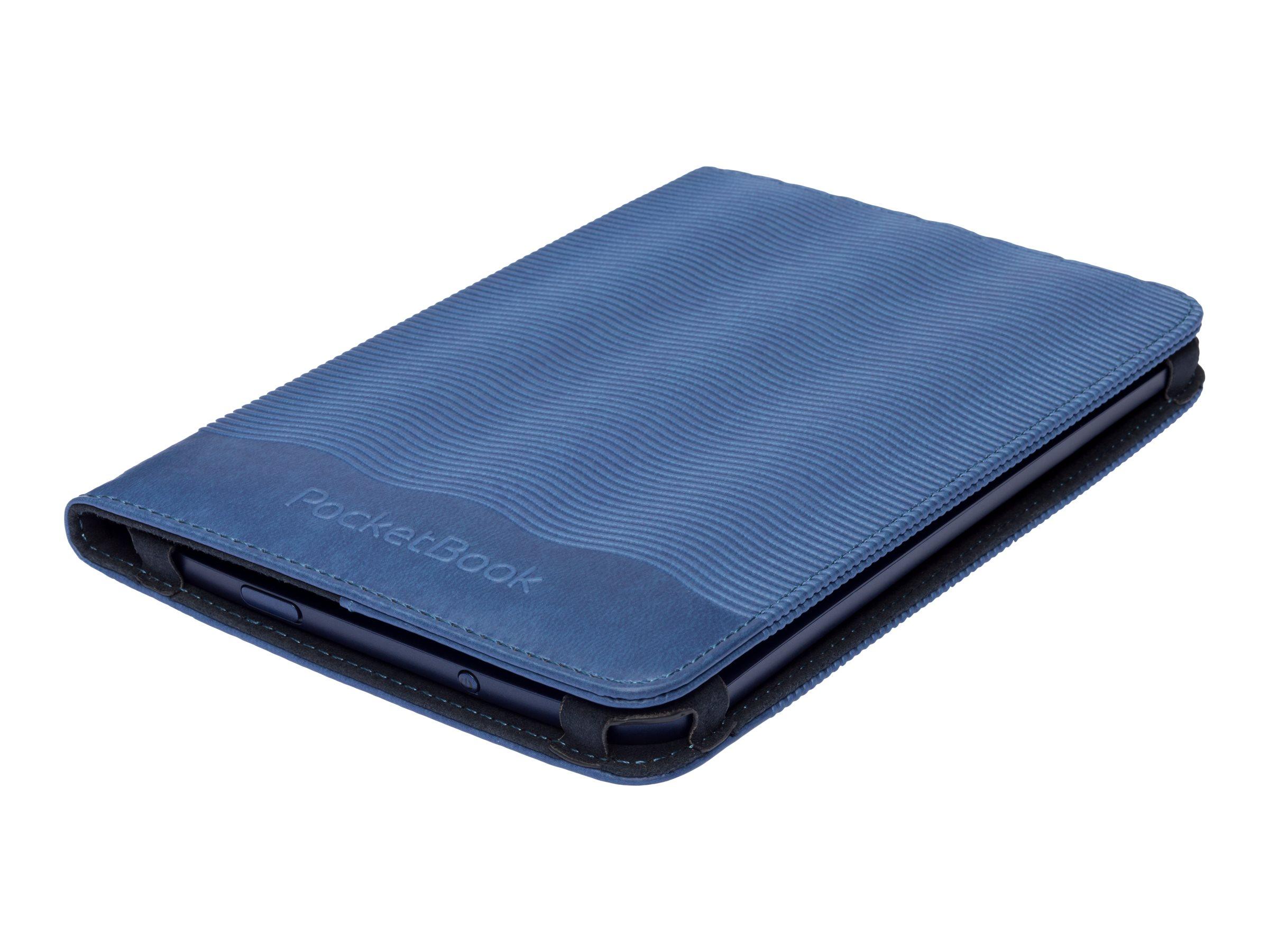 PocketBook Breeze - Flip-Hülle für eBook-Reader - Polyurethan - dunkelblau - für PocketBook 640
