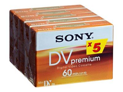 Sony DV-Premium - Mini DV - 5 x 60min