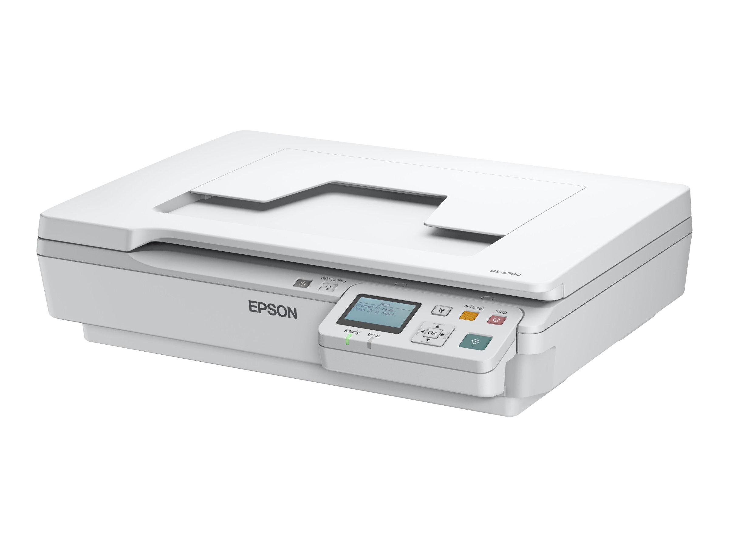 Epson WorkForce DS-5500N - Flachbettscanner - A4 - 1200 dpi x 1200 dpi - USB 2.0, LAN