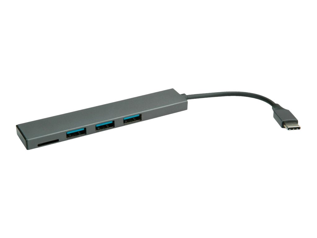ROLINE USB 3.2 Gen 1 Hub - Hub - 3 x USB 3.2 Gen 1 - Desktop