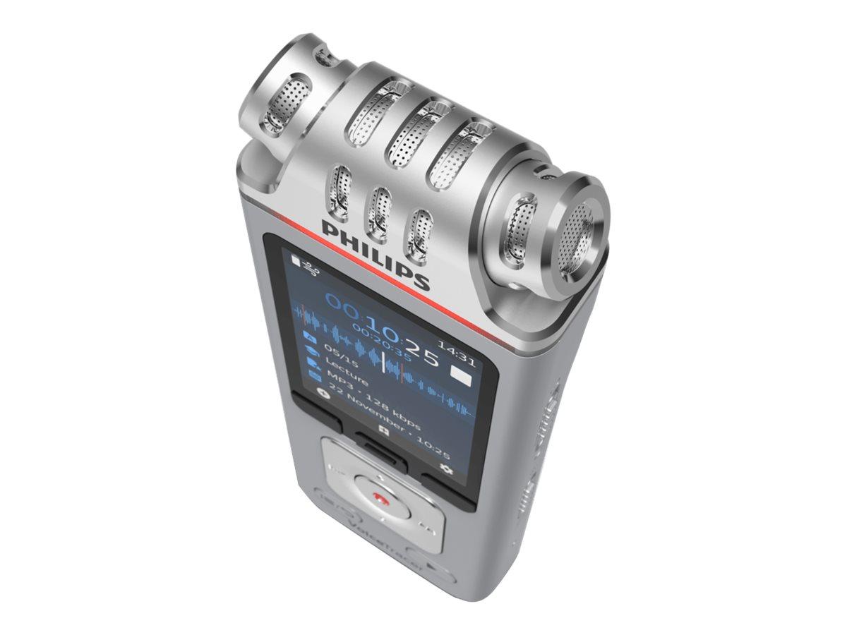 Philips Voice Tracer DVT4110 - Voicerecorder - 200 mW - 8 GB - Silber, Chrom
