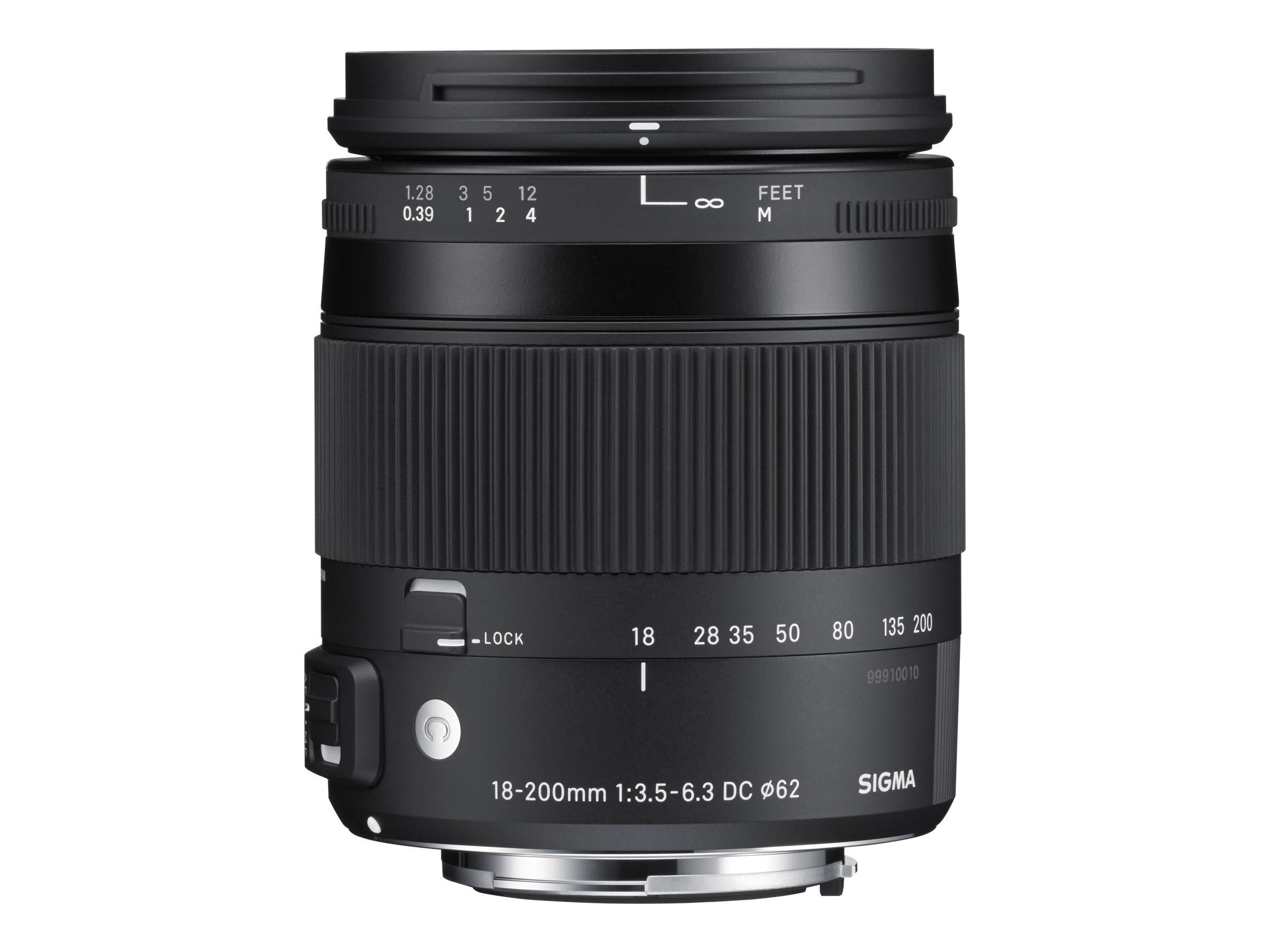 Sigma Contemporary - Zoomobjektiv - 18 mm - 200 mm - f/3.5-6.3 DC Macro OS HSM - Nikon F