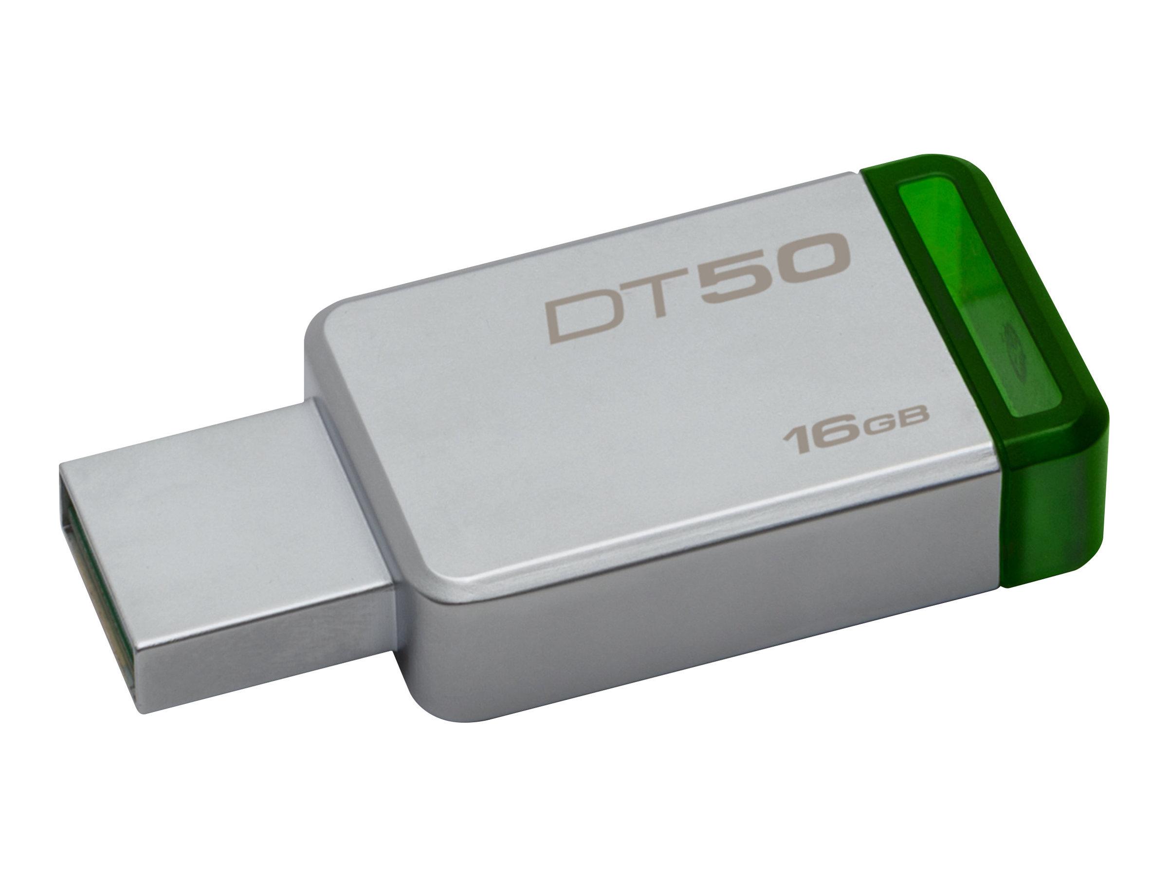 Kingston DataTraveler 50 - USB-Flash-Laufwerk - 16 GB - USB 3.1 - grün