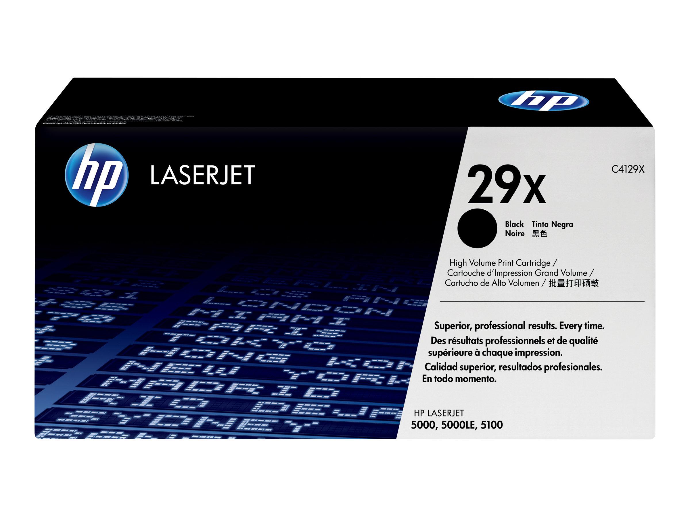 HP 29X - Hohe Ergiebigkeit - Schwarz - Original - LaserJet - Tonerpatrone (C4129X)