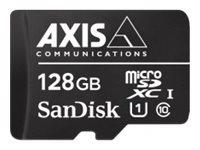 AXIS Surveillance - Flash-Speicherkarte (microSDXC-an-SD-Adapter inbegriffen) - 128 GB - UHS-I U1 / Class10 - microSDXC UHS-I -