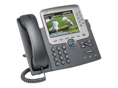 Cisco Unified IP Phone 7975G - VoIP-Telefon - SCCP, SIP - 8-Leitungs-Betrieb - Silber, Dunkelgrau