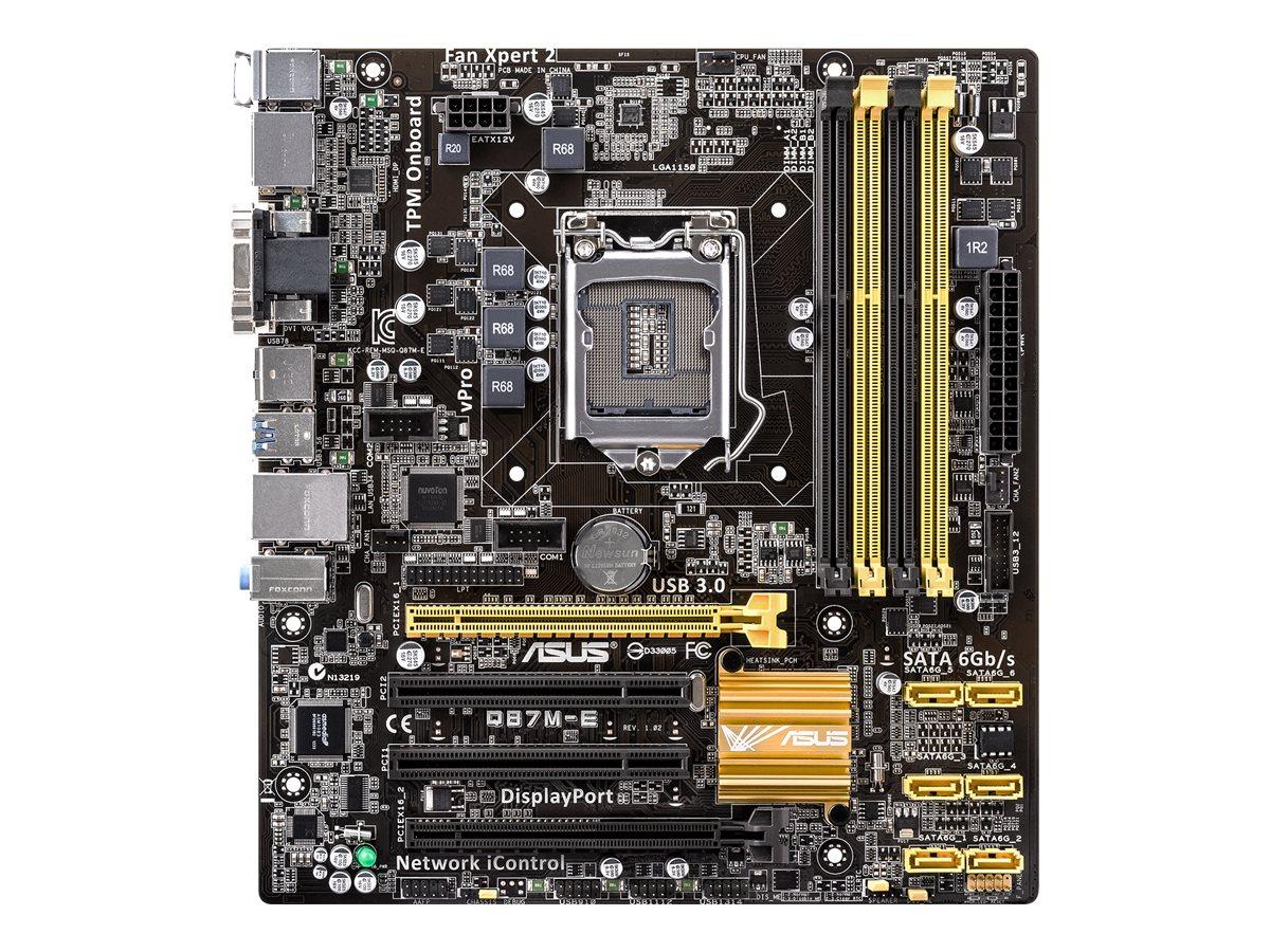 ASUS Q87M-E - Motherboard - micro ATX - LGA1150-Sockel - Q87 - USB 3.0