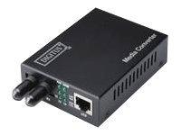DIGITUS Professional DN-82110-1 - Medienkonverter - GigE - 10Base-T, 1000Base-SX, 100Base-TX, 1000Base-T - RJ-45 / ST multi-mode