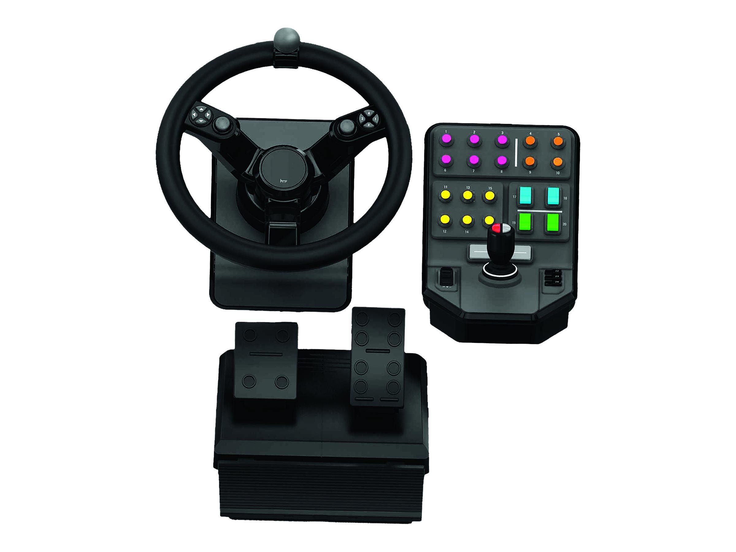 Logitech Heavy Equipment - G-Series - Bundle - Lenkrad- und Pedale-Set - kabelgebunden - für PC