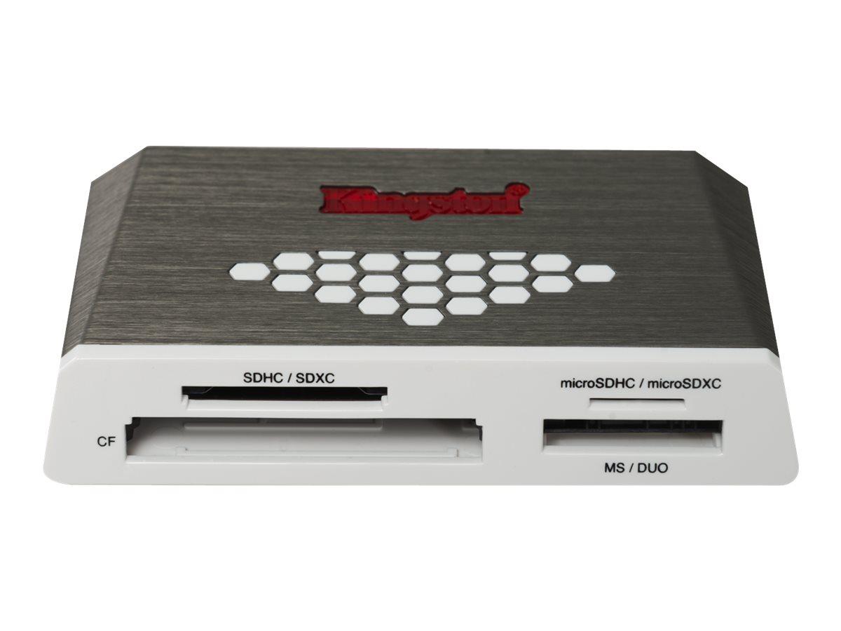 Kingston High-Speed Media Reader - Kartenleser (CF I, CF II, MS, MS PRO, SD, MS Duo, MS PRO Duo, CF, microSD, SDHC, microSDHC, M