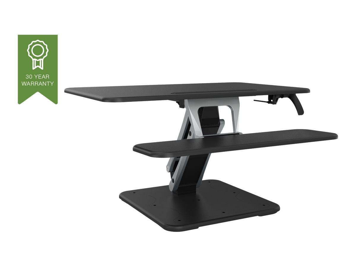Vision VSS-2 Sit-Stand Desk Riser - Grösse S - Aufstellung für LCD-Bildschirm / Tastatur / Maus / Tablet - Aluminium, Stahl - Sc