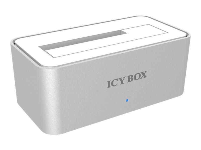 RaidSonic ICY BOX IB-111StU3-Wh - HDD-Dockingstation mit Datenanzeige, Netzanzeige, EasySwap Mechanism, Ein/Aus-Schalter - 2,5