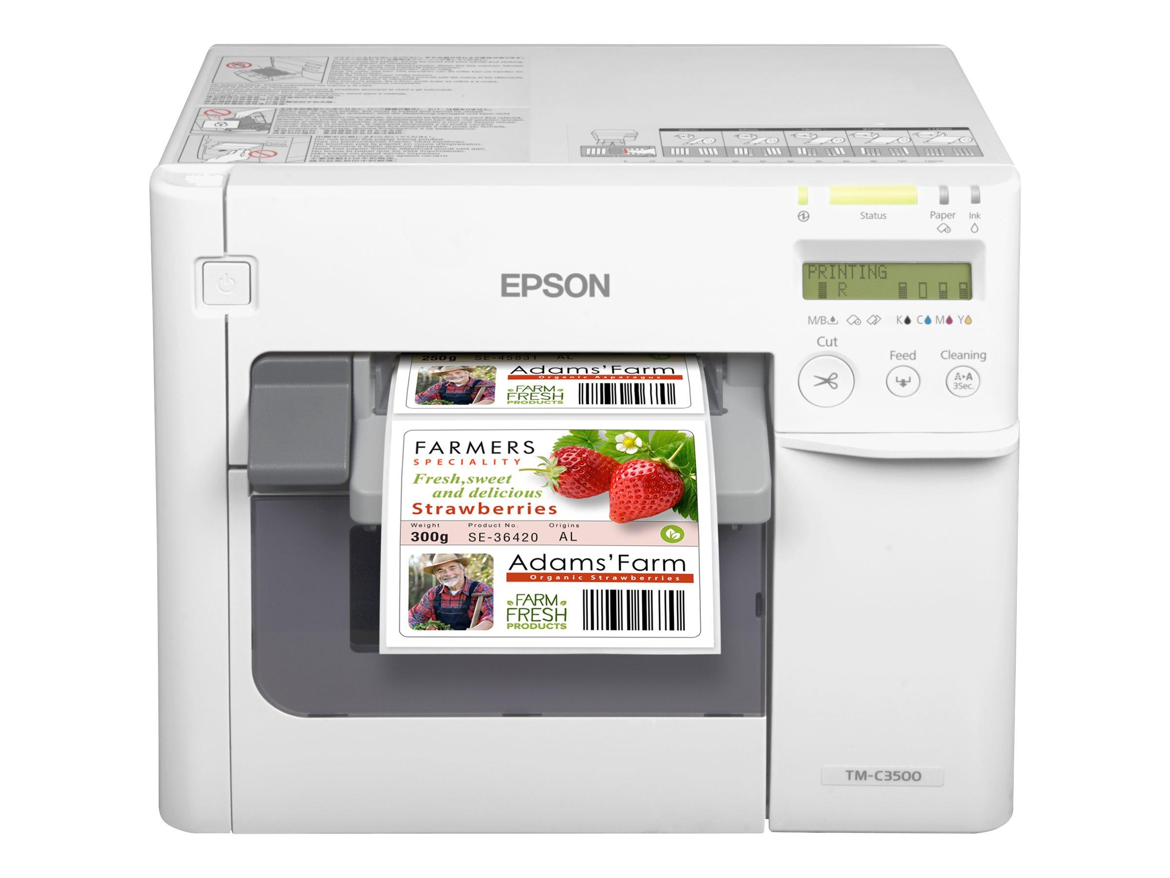 Epson TM C3500 - Etikettendrucker - Farbe - Tintenstrahl - 112 mm (Breite) - 720 x 360 dpi