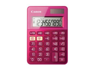Canon LS-100K - Desktop-Taschenrechner - 10 Stellen - Solarpanel, Batterie - metallisch rosa