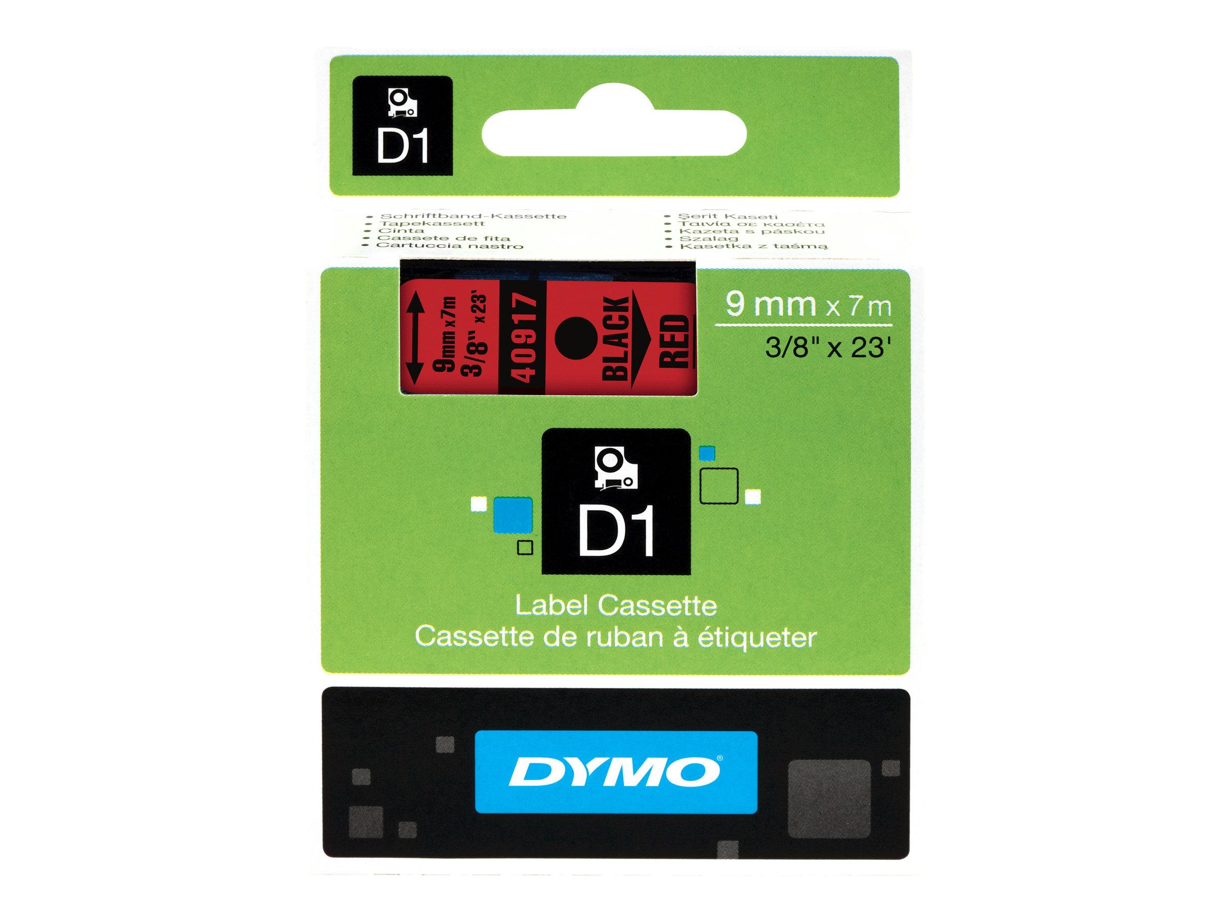 DYMO D1 - Glänzend - schwarz auf rot - Rolle (0,9 cm x 7 m) 1 Rolle(n) Band - für LabelMANAGER