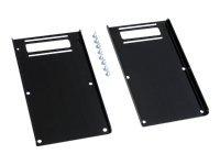 Ergotron MMC 800 mm Kit - Befestigungskit (Befestigungen, 2 Erweiterungsklammern) für Flat Panel - Schwarz