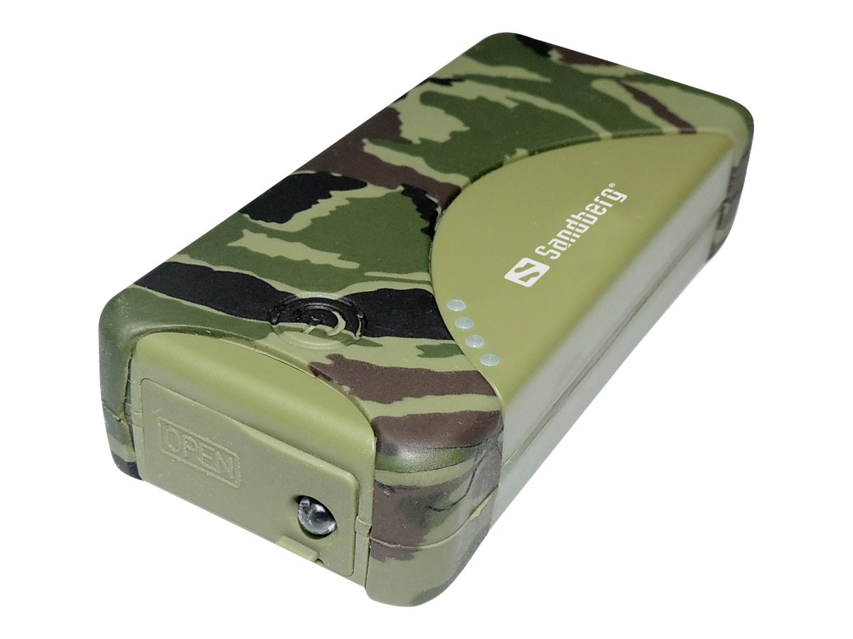 Sandberg Outdoor Powerbank - Powerbank - 5200 mAh - 2100 mA - 2 Ausgabeanschlussstellen (USB) - auf Kabel: Micro-USB
