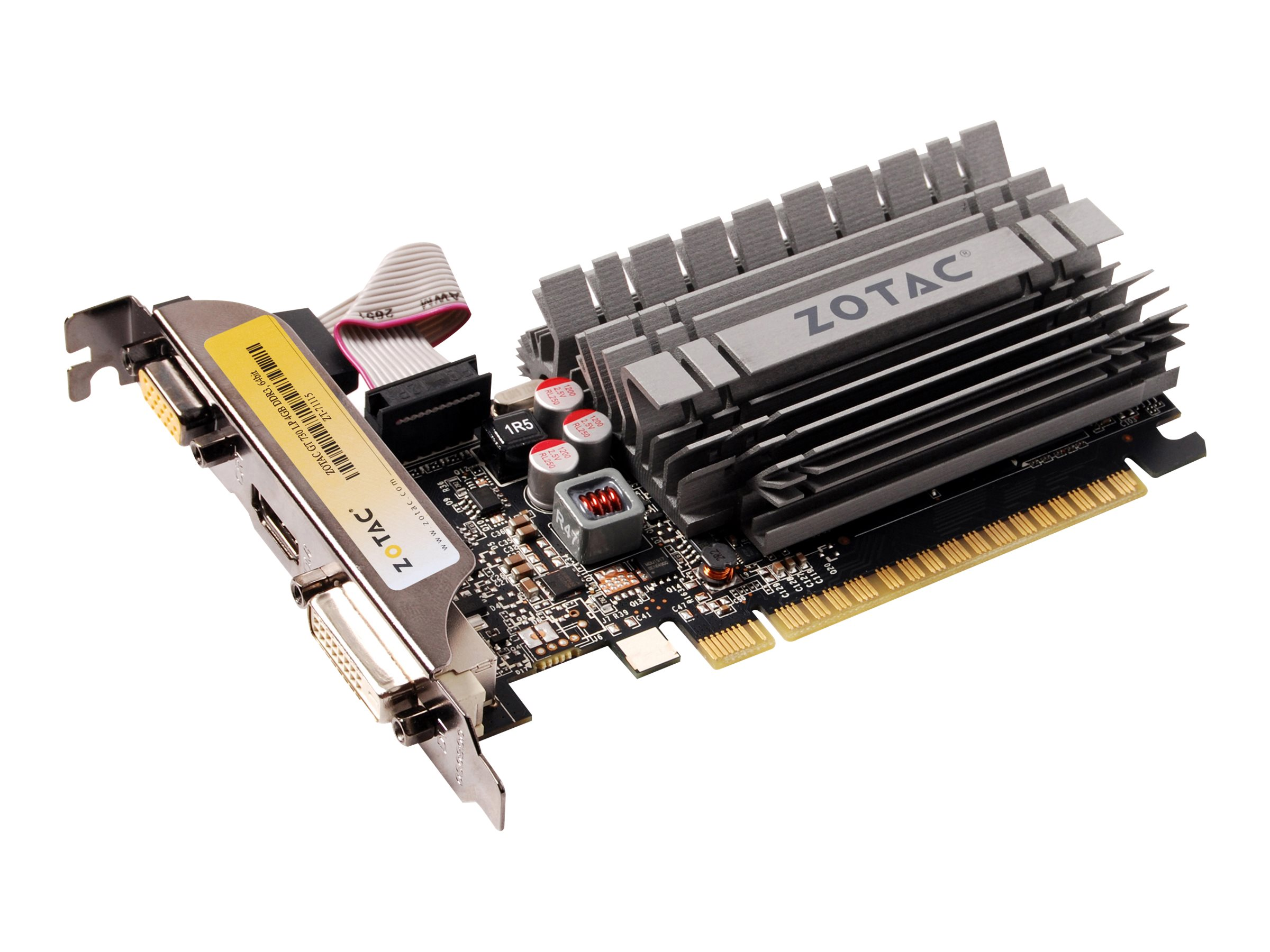 ZOTAC GeForce GT 730 - Grafikkarten - GF GT 730 - 4 GB DDR3 - PCIe 2.0 x16 Low-Profile - DVI, D-Sub, HDMI