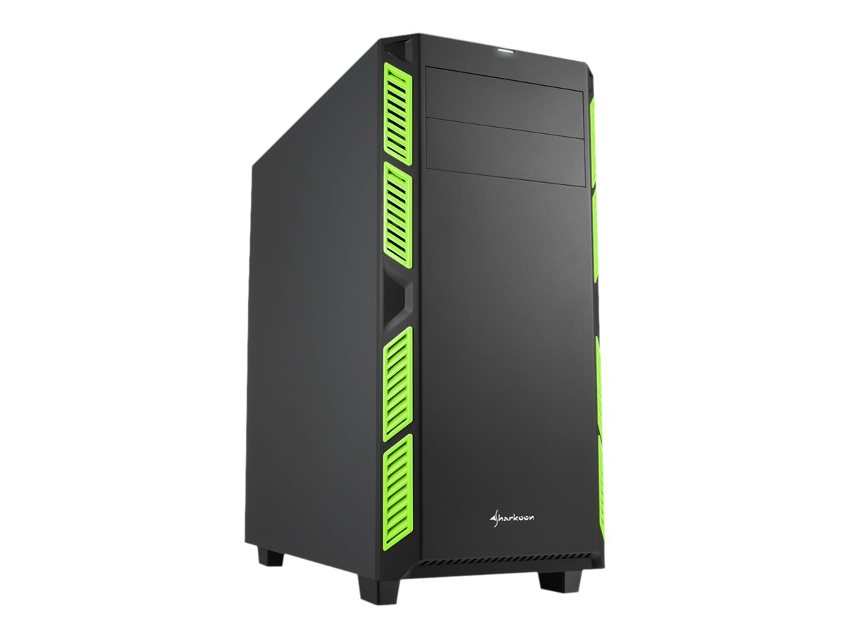 Sharkoon AI7000 Silent - Midi Tower - ATX - ohne Netzteil - grün - USB/Audio