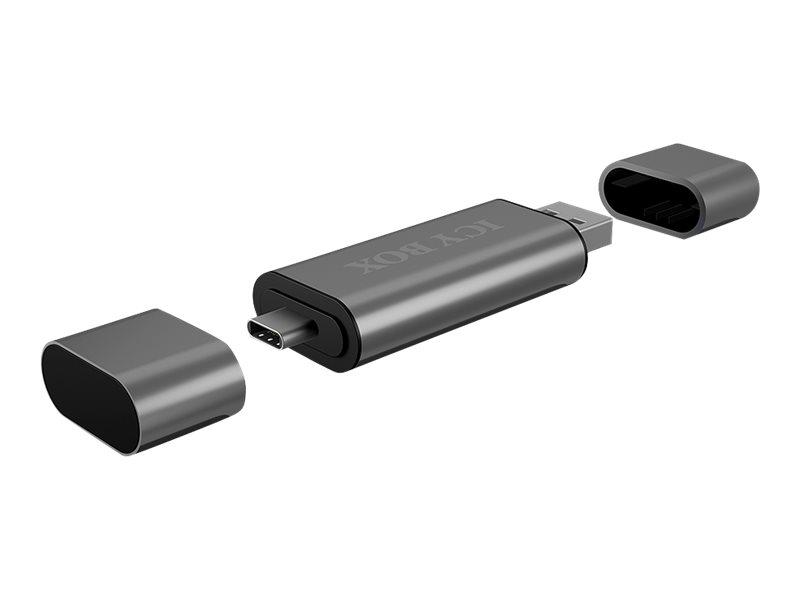 RaidSonic ICY BOX IB-CR200-C - Kartenleser (MMC, SD, microSD, SDHC, microSDHC, SDXC, microSDXC, SDHC UHS-I, microSDHC UHS-I) - U