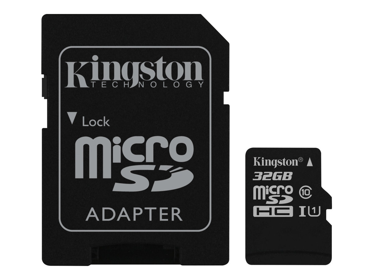 Kingston Canvas Select - Flash-Speicherkarte (microSDHC/SD-Adapter inbegriffen) - 32 GB - UHS Class 1 / Class10 - microSDHC UHS-