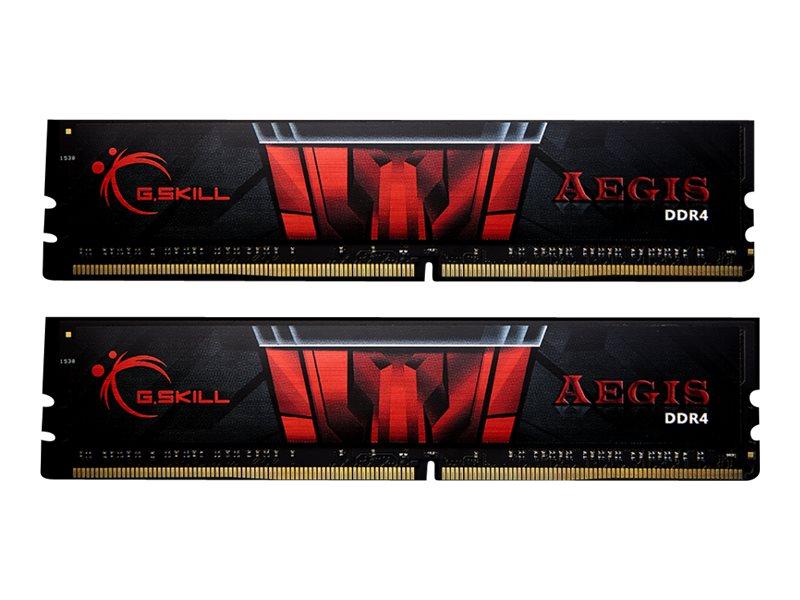 G.Skill AEGIS - DDR4 - 32 GB: 2 x 16 GB - DIMM 288-PIN - 3000 MHz / PC4-24000 - CL16