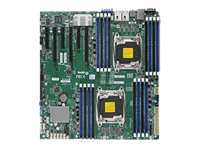 SUPERMICRO X10DRI-T - Motherboard - Erweitertes ATX - LGA2011-v3-Sockel - 2 Unterstützte CPUs - C612