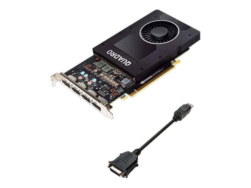 NVIDIA Quadro P2000 - Grafikkarten - Quadro P2000 - 5 GB GDDR5 - PCIe 3.0 x16 - 4 x DisplayPort