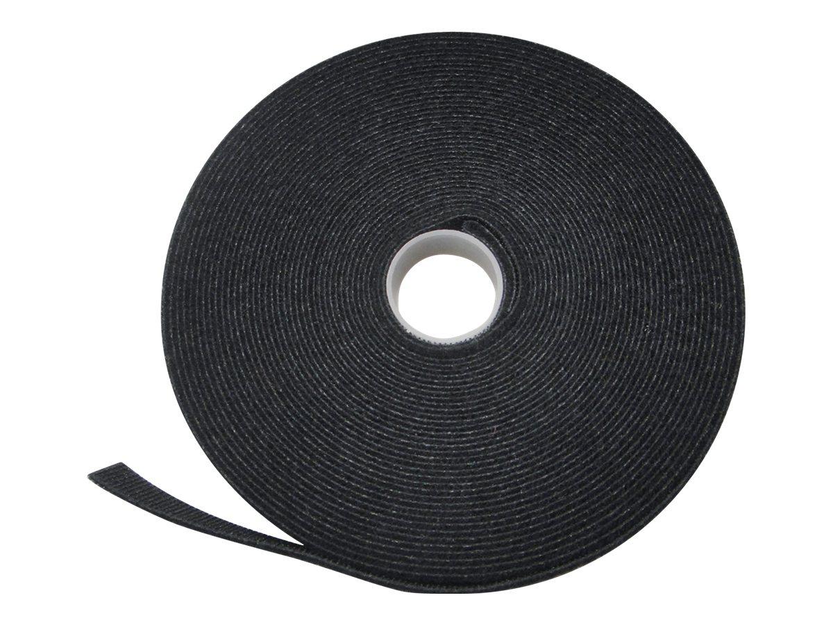 ASSMANN - Klettverschlussriemen für Kabelmanagement - Schwarz - 10 m