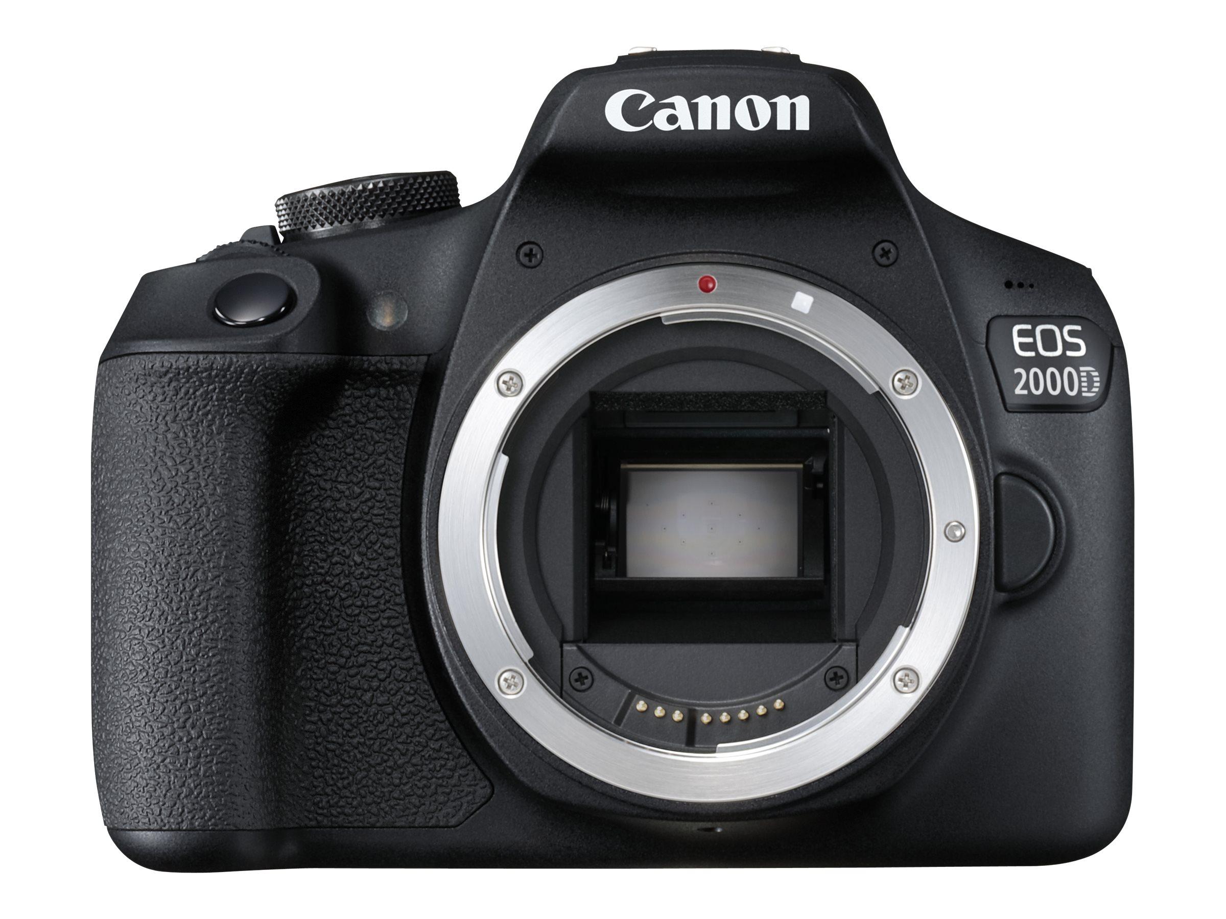 Canon EOS 2000D - Digitalkamera - SLR - 24.1 MPix - APS-C - 1080p / 30 BpS